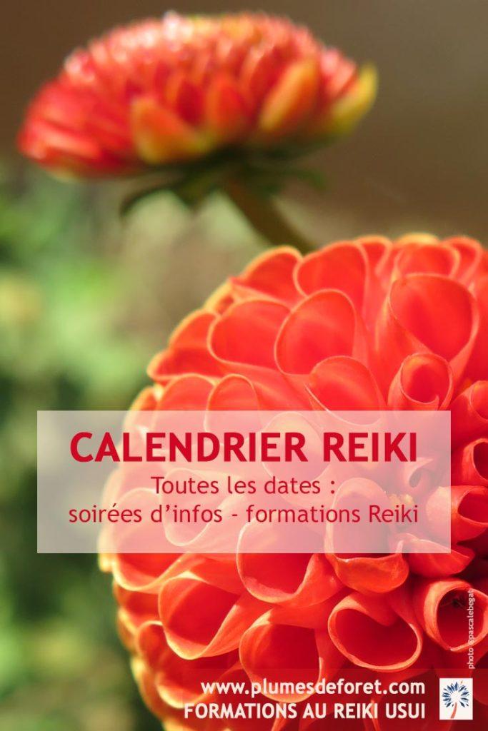 Dates de nos informations gratuites et initiations Reiki Usui en France & en Guyane