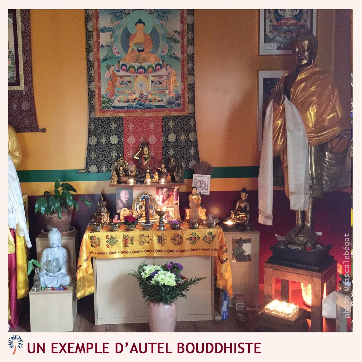 Autel bouddhiste