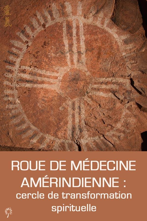 Roue de médecine cercle de vie