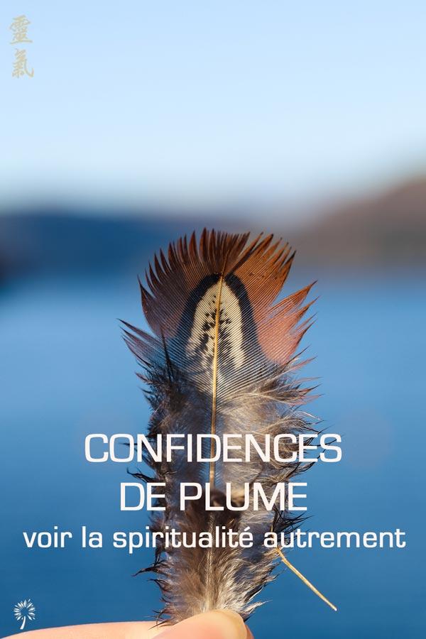 spiritualité confidences de plume